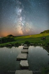 Stepping stones to the stars. (Ainsleyiow1) Tags: nightsky samyang24mm d810 nikon flowersbrook ventnor isleofwight milkyway