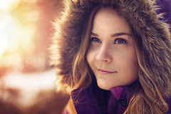 -This Girl- (IceDevil90) Tags: portrait girl sunset winter eyes nature sun outdoor bokeh beautiful closeup woman cute pretty face colorful beaty naturallight young people emotive