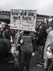 IMG_0235 (justine warrington) Tags: womens march womensmarch womensmarchonwashington washington pink pussy hats pinkpussyhat protest signs trump 45th presidential election january 21st 2017 potus resist resistance is fertile