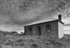 Springs Road (Trace Connolly) Tags: bnw australia australiasouthaustralia blackandwhite canon canon7d digital exposure flickr hiking easter nature black white house ruin springs bw