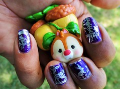 Forest animal nails (flores272) Tags: nailart nailstamping nails tsumtsum dale toy toys doll dolls bms163 woodlandcreatures