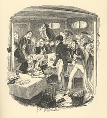 Steam Excursion, part 2 (Rescued by Rover) Tags: george cruikshank charles dickens sketches boz london chapman hall victorian dress costume steam boat excursion thames river seasick