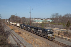 NS 24K @ Oxford Valley, PA (Darryl Rule's Photography) Tags: 2017 24k april catenary diesel diesels emd eastbound ge intermodal mac morrisville morrisvilleline morrisvilleyard ns norfolksouthern oxfordvalley pa pc prr penncentral pennsy pennsylvania pennsylvaniarailroad railroad railroads readingrailroad sd70ace sd75 sd80mac sw1001 spring sun switcher train trains