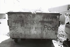 Anderson's Poo (goodfella2459) Tags: nikon f4 af nikkor 24mm f28d lens adox scala 160 35mm blackandwhite reversal film skip andersons waste bowral southern highlands new south wales bwfp milf graffiti