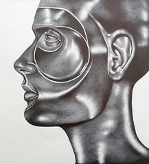 Face-46 (Rebecca_Cruz) Tags: futurist ballpoint drawing futurism