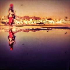 Incredible India series (Nick Kenrick..) Tags: india rajasthan hindu lake reflection sadhu pilgrim temple