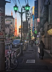 Tokyo Tower from the streets (DaveySandiford) Tags: uploaded:by=flickrmobile architecture