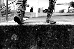 These boots are made for walking (Leica M6) (stefankamert) Tags: stefankamert leica m6 leicam6 boots thesebootsaremadeforwalking voigtländer nokton 35mm film analog grain textures ilford blackandwhite mono