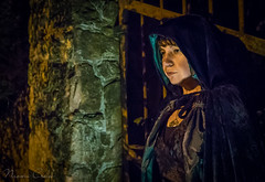 naomi170411-071 (Naomi Creek) Tags: portrait woman girl cape velvet hood stone wall gate iron night mysterious heart pendant light character selfportrait selfdiscovery magical fairytale