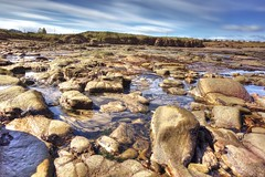 Broad Sand Rocks (ca2cal) Tags: england northumberland cresswell broad sand rocks broadsandrocks beach coast rock sea water sky cloud landscape waterscape hdr 10stop longexposure blur motionblur website