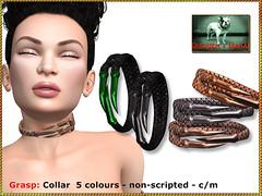 Bliensen - Grasp - Collar (Plurabelle Laszlo of Bliensen + MaiTai) Tags: fantasyjewelry collar armbands warrior gor gorean demonic demon wizard witch antique roman gladiator viking norse
