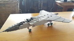 Mikoyan Gurevich MiG-31BM Foxhound WIP - 1 (Kenneth-V) Tags: aircraft airplane aviation airforce air mikoyan gurevich mig mig31 mig31bm foxhound russian military model moc lego 136 wip war cold fighter interceptor planes plane scale