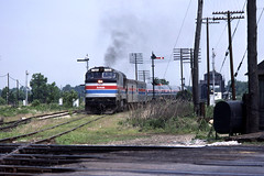 Amtrak through Hammond (sooline502a) Tags: chicago leehastman amtrak passangertrain