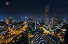 Night at Lion City (Jose Hamra Images) Tags: singapore night city cityscape skyline scbd marina esplanade fullerton marinabay