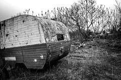 Roughing It (drei88) Tags: grim desolate desolation lonely solitude grit gritty dark weird empty seeking rv camper rust neglect forlorn