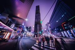 A night in Ginza (hidesax) Tags: anightinginza street passersby building night lights ginza chuoku tokyo japan hidesax sony a7ii voigtlander 10mm