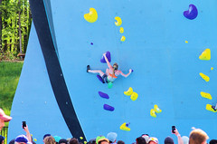 POP_8040 (Philip Osborne Photography) Tags: nationalwhitewatercenter charlotte nc tuckfest womensdeepwater rock climbers pro woman shorts sports bra athletic active ponytail falling kyracondie alexjohnson biminihorstman deepwatersolo climbing 2017