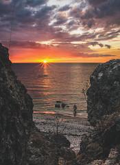 Lonely fisherman (Mika Tuomela) Tags: landscape sea seascape beach coast coastline cliff klint gotland sweden scenery scandinavia sun sunlight sunbeams sunset sunsetphotography landscapephotography naturephotography naturelover nature nikon nikond750 fx nikkor20mmf18g