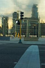Chasing an Illusion (FiddleHiker) Tags: hww windowwednesdays hdr minneapolis downtown minnesota reflection urban crosswalk clouds skyline skyscrapers cityscape usbankstadium nfl stadium