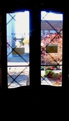 Library front door - HWW. (Maenette1) Tags: spiespubliclibrary front door window view menominee uppermichigan happywindowswednesday flickr365