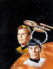 Star Trek, The Final Frontier, STARLOG #1 magazine cover, August 1976 by Jack Thurston (Tom Simpson) Tags: startrek illustration spock scifi sciencefiction enterprise 1976 kirk captainkirk ussenterprise mrspock starlog jackthurston