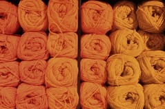 Orange yarn (sfPhotocraft) Tags: orange oslo norway shop knit yarn 2014 yarnshop orangeyarn