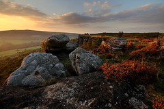Froggatt Edge Autumn Equinox (andy_AHG) Tags: autumn sunset outdoors evening derbyshire peakdistrict hills moors pennines beautifulscenery edges pursuits britishcountryside froggattedge autumnalequinox