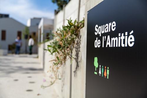 Inauguration du square de l'amitié. Pierrefitte-sur-seine ©P. Le Tulzo