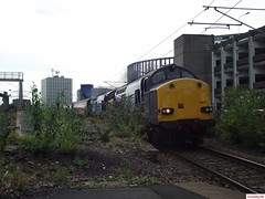 Direct Rail Services 37605 and 37607 at Manors (CoachAlex1996) Tags: england train newcastle north transport rail railway system east transportation network passenger services direct