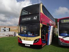 LX12DFN (Stagecoach London 10136) Duxford Showbus.2 (routemaster2217) Tags: duxford imperialwarmuseum iwm showbus2014