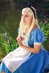 Wonderment (OhHeyItsSK) Tags: park new york city nyc anime water grass pond cosplay centralpark central manga disney videogames movies photosbyohheyitssk