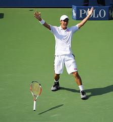 Kei Nishikori (AshMarshall) Tags: usa ny queens tennis keinishikori 2014usopentennischampionships