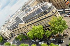 Boulevard Haussmann tilt shifted (Frenk H) Tags: paris boulevard haussmann shift tilt parijs