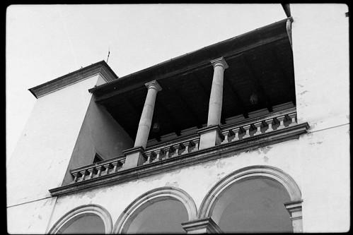 Balkon nad wejściem do MLIM, lata 80-te, XXw.
