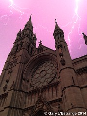 Saint Peters Church West Street Drogheda (garylestrangephotography) Tags: ireland sky storm saint electric fork peter lightning louth 4s drogheda iphone garylestrangephotography