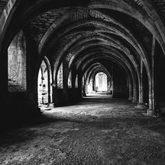 Fountains Abbey (DWO630) Tags: uk travel vacation england blackandwhite bw monochrome square scotland europe pentax kitlens unescoworldheritagesite bandw k01