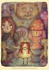 Burgeoning of Princess Ozzarah (VLADIMIR... . . .) Tags: illustration fairytale gif animatedgif creatures fantasyart betweenworlds