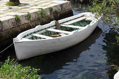 Boat (threejumps) Tags: sea boat wooden harbour montenegro rowingboat