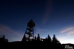 Blue Night (BlackForest.Photography) Tags: sky tree tower clouds sunrise stars blackforest schauinsland