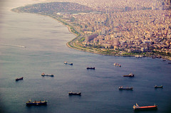 Loitering (Melissa Maples) Tags: sea water turkey boats nikon asia mediterranean trkiye istanbul aerial coastline nikkor vr afs  18200mm   f3556g  18200mmf3556g d5100