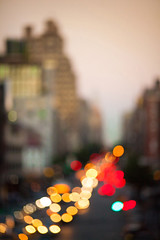 the unfocused life (solecism) Tags: street city nyc newyorkcity urban ny newyork abstract blur outdoors lights evening cityscape traffic unitedstates bokeh manhattan northamerica gotham unfocused spoonnewyorkkiss