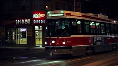 Streetcar Video Clip (Ryan J Gaynor) Tags: city test toronto night video downtown ttc streetcar theband canon7d