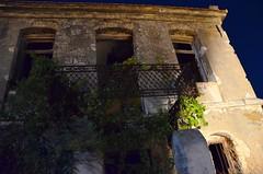 Abandoned manor house (kutruvis nick) Tags: windows house plant abandoned architecture night island greek nikon doors balcony bricks cement ikaria hellas greece nik manor ruined doublestory d5100 kutruvis agiokiryko