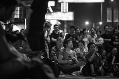 / Occupy Central /  / Umbrella Revolution (kelvintkn) Tags: street city people bw night digital hongkong blackwhite asia sony strike fullframe mongkok vivitar manualfocus f28 135mm lightroom photomatix primelens mirrorless a7r closefocusing sharpenerpro sonyphotography colourefexpro emount konicaarmount vivitarautotelephoto135mmf28closefocusing dfinepro siliverefex