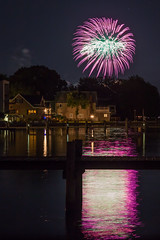 Fireworks Reflected (ken.krach (kjkmep)) Tags: fireworks maryland middleriver