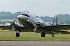 Douglas C-53D Dakota - 1 (NickJ 1972) Tags: aviation airshow duxford douglas skytrain dc3 dakota c47 2014 c53 flyinglegends skytrooper lnwnd z73