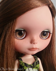 OOAK Hand-Painted Eye Chips for Blythe Doll - Sparkling Honey Caramel Browns by Oly in Wonderland
