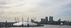 East London Skyline (Darren Wood) Tags: london water thames skyline river o2 arena wharf dome canary towerblocks