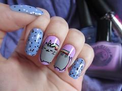 Pusheen, the cat <3 (lissa_is) Tags: blue glitter nail nailpolish unicorn nailart itgirl realce limecrime florever pusheen blantcolors lavendairy