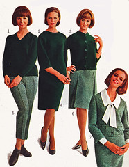 Sears 64 fw green outfits (jsbuttons) Tags: winter green fall clothing 60s buttons sears womens 64 catalog cardigan sixties 1964 skirtsuit vintagefashion